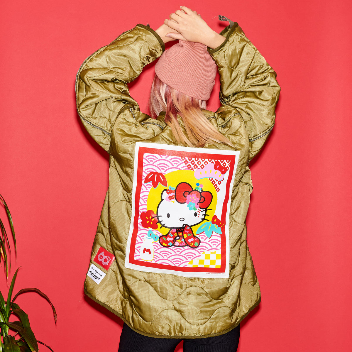 East/West Sanrio 60th Quilted Jacket: Hello Kitty
