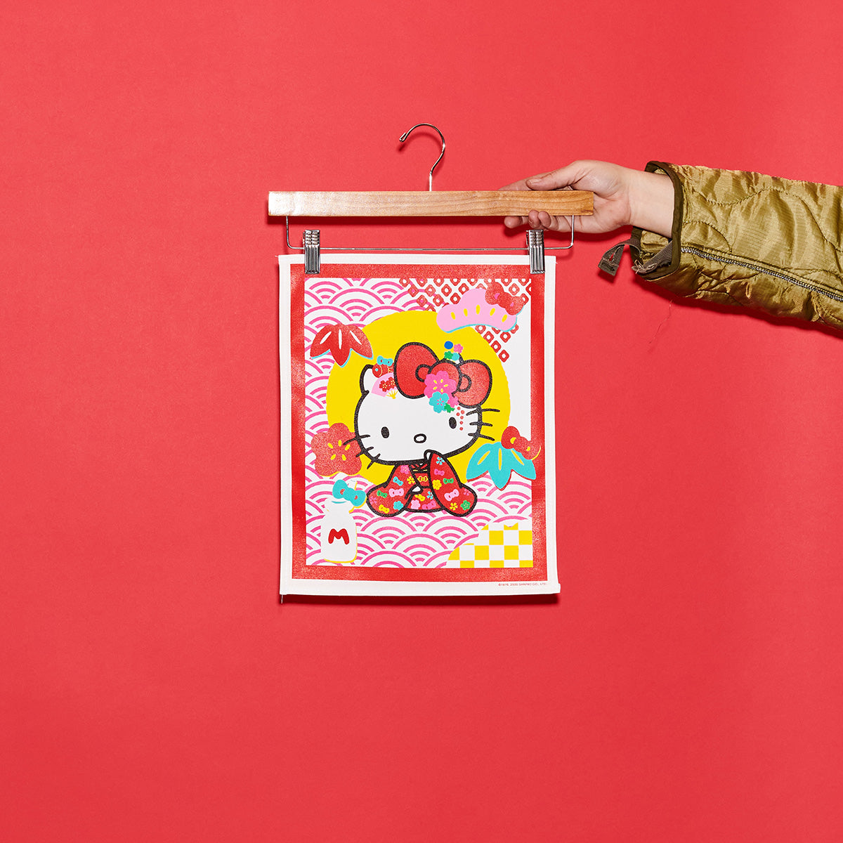 East/West Sanrio 60th Oversized Back Patch: Hello Kitty