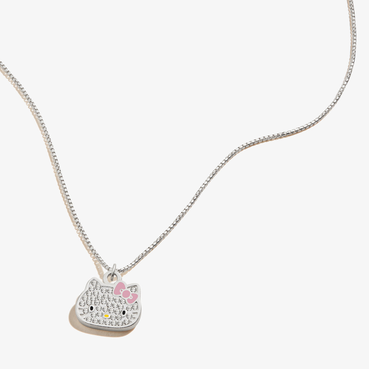 "Alex and Ani Hello Kitty Pave 18"" Sterling Silver Necklace"