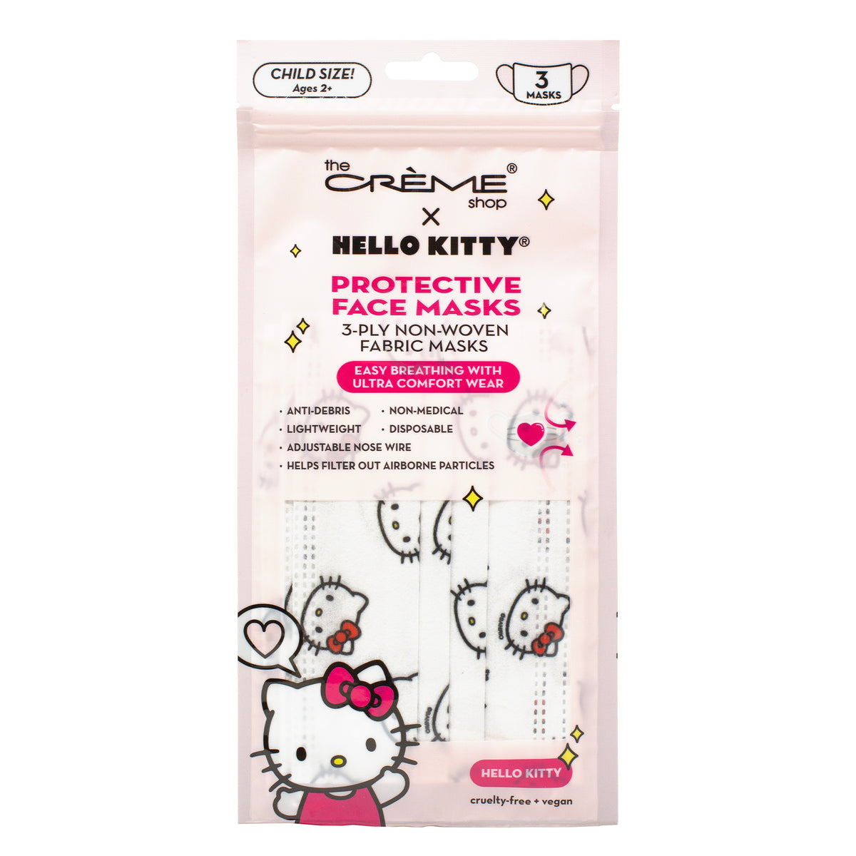 The Crème Shop x Hello Kitty 3-Ply Disposable Face Masks Child