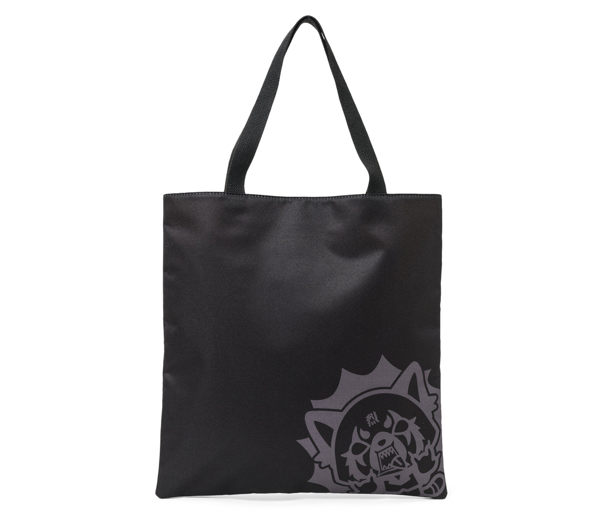 Aggretsuko Tote Bag Black Metal