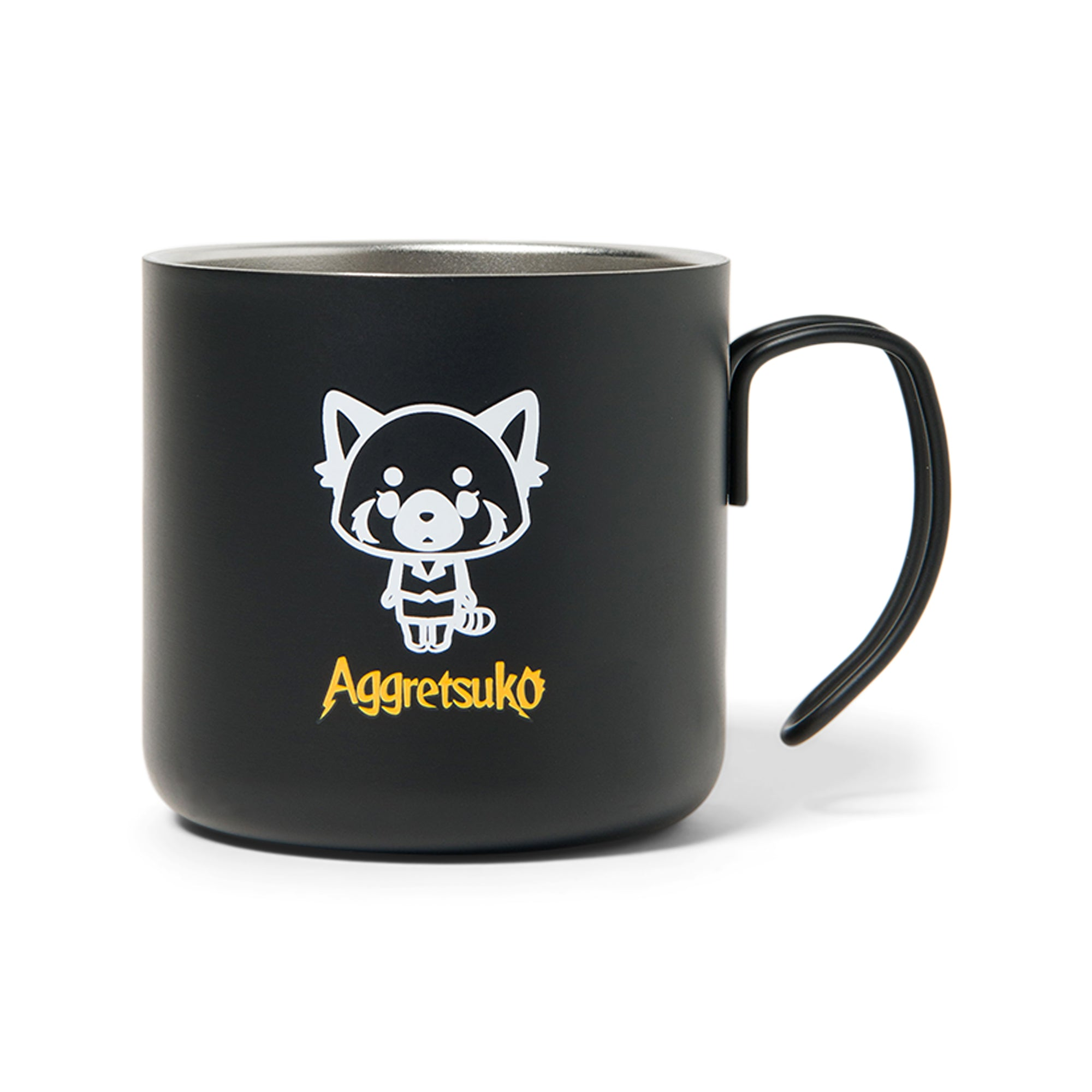 Aggretsuko Black Stainless Steel Mug