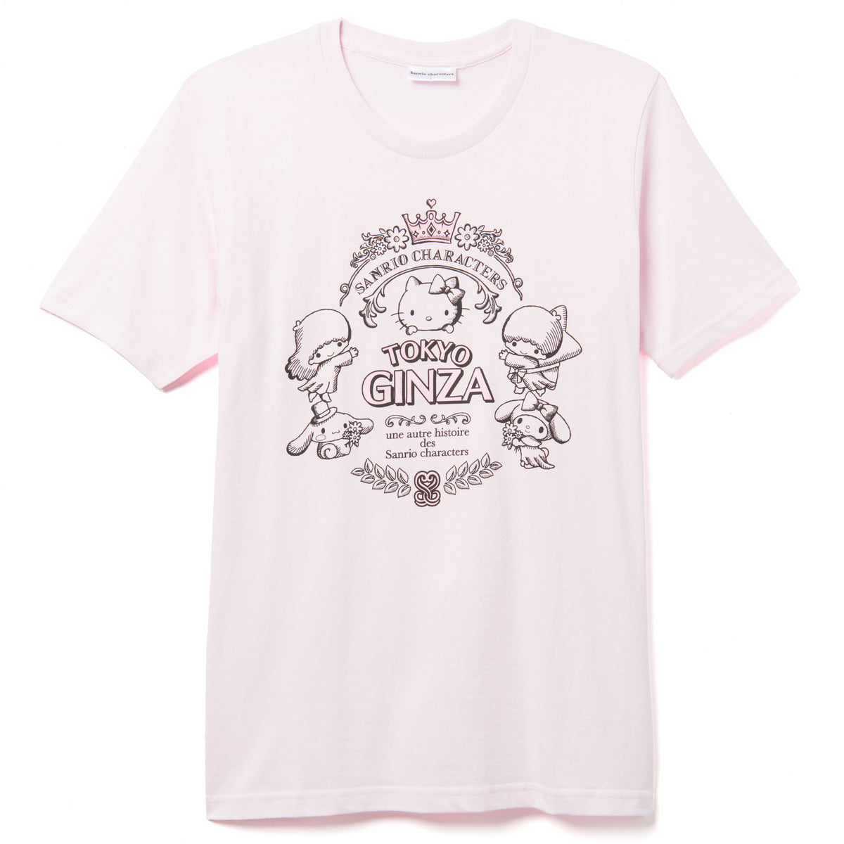 Sanrio Characters French Ginza T-Shirt Pink