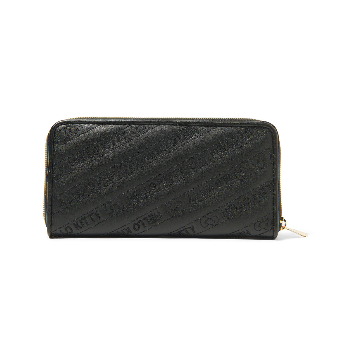 Hello Kitty Quilted Long Wallet Black