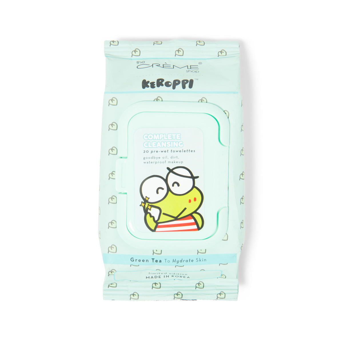 The Crème Shop x Keroppi Cleansing Towelettes Green Tea