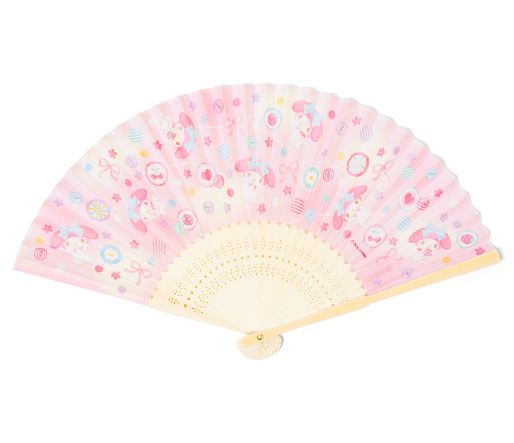 My Melody Japanese Folding Fan Ribbons