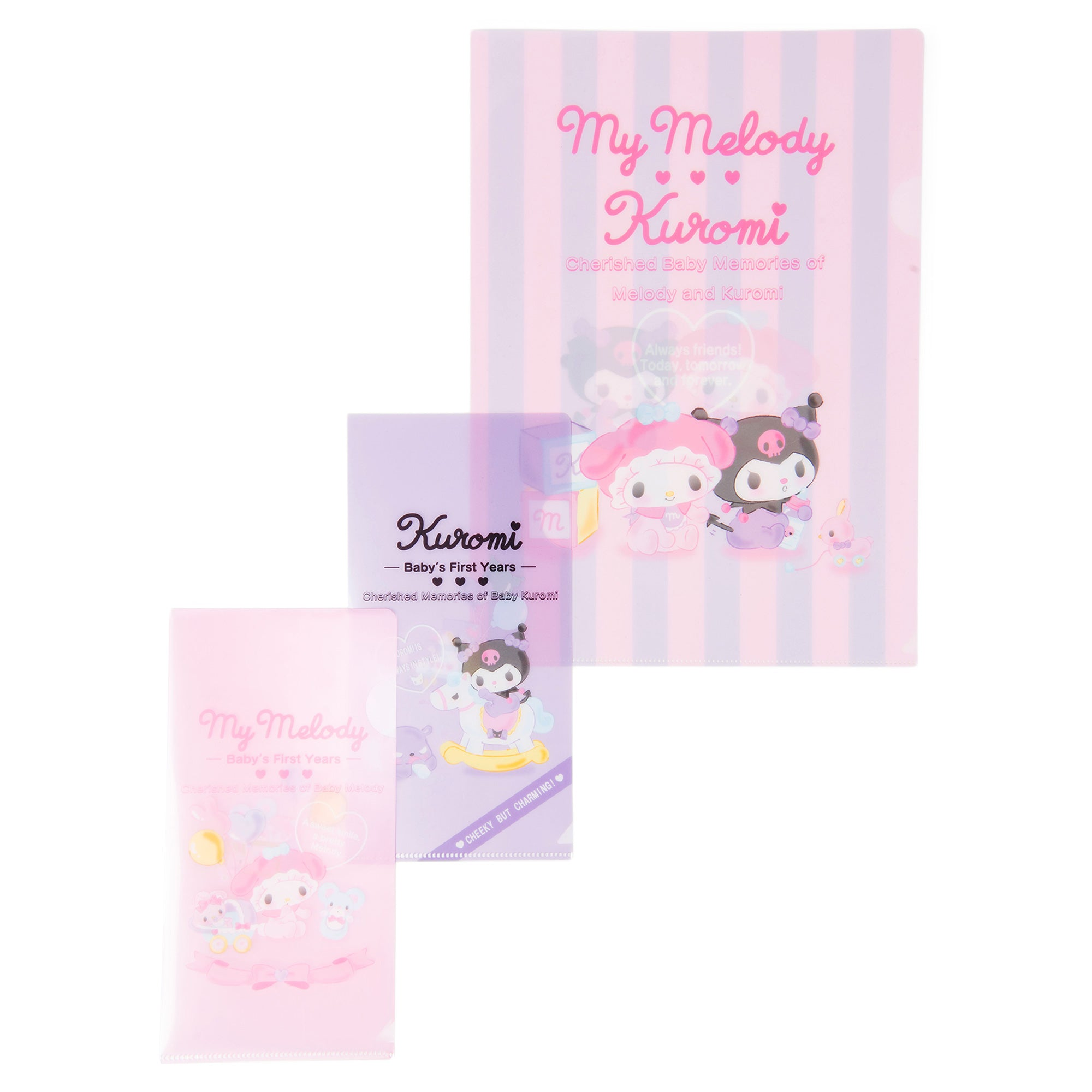 Little My Melody & Kuromi Clear File Set
