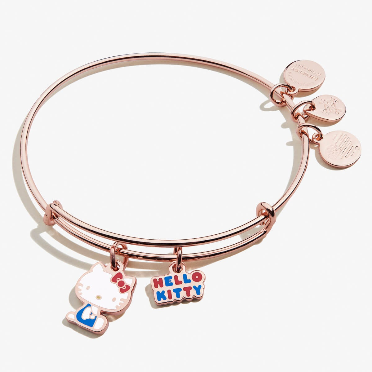 Alex and Ani Hello Kitty Duo Charm Bangle Shiny Rose Gold