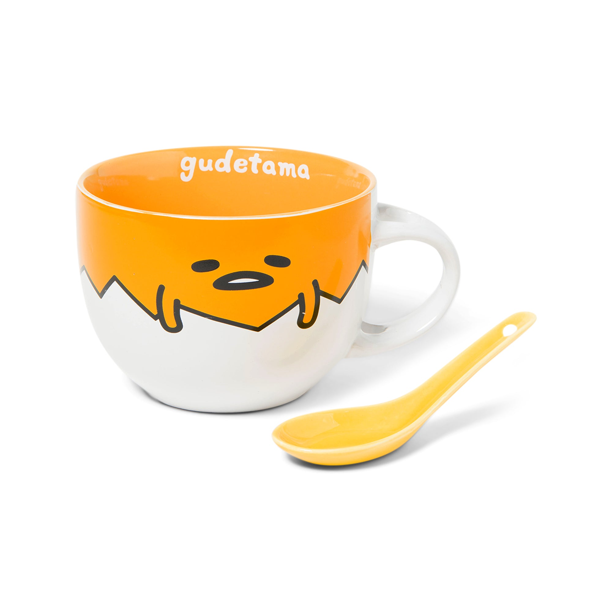 Gudetama Ceramic Soup Mug & Spoon