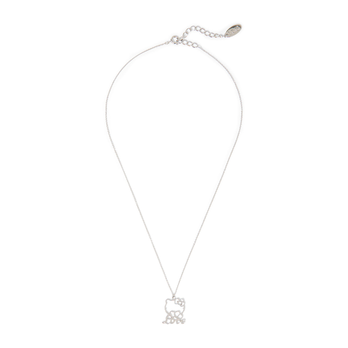 Hello Kitty 5108 Charm Necklace Love Silver