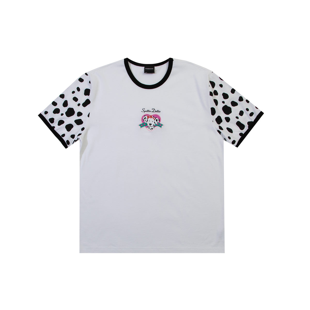 Spottie Dottie Embroidered Ringer T-Shirt