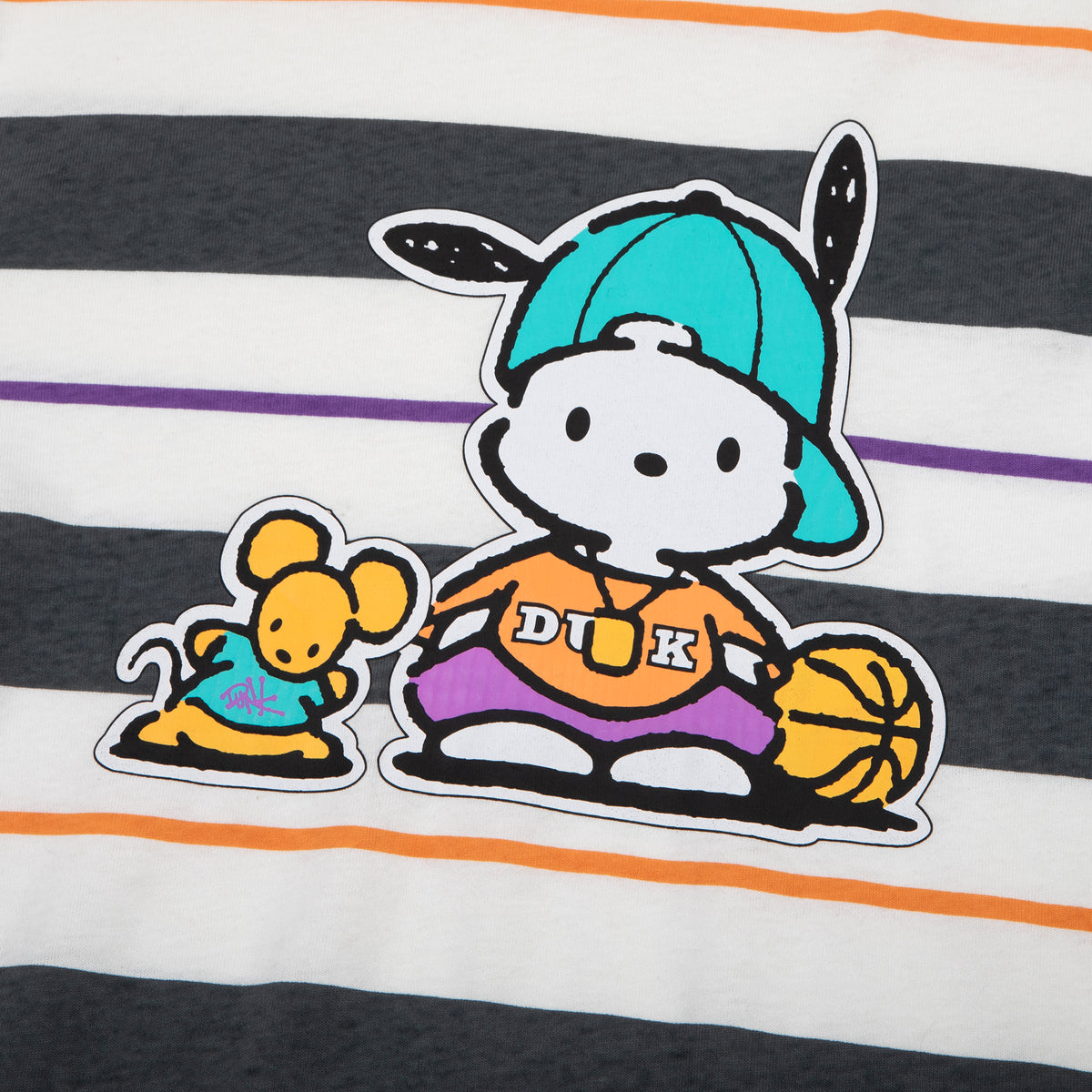 Pochacco Basketball Striped Long Sleeve T-Shirt
