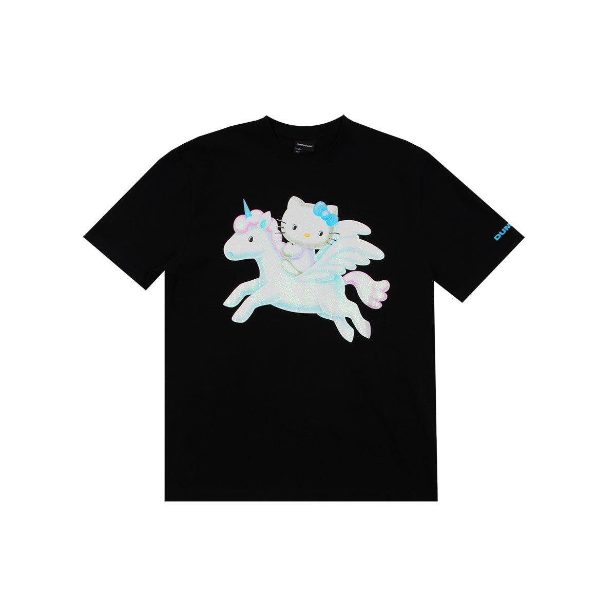 Hello Kitty Glitter Flying Unicorn T-Shirt