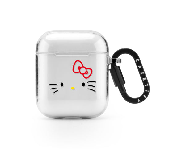 Hello Kitty x Casetify AirPods Face Case Clear