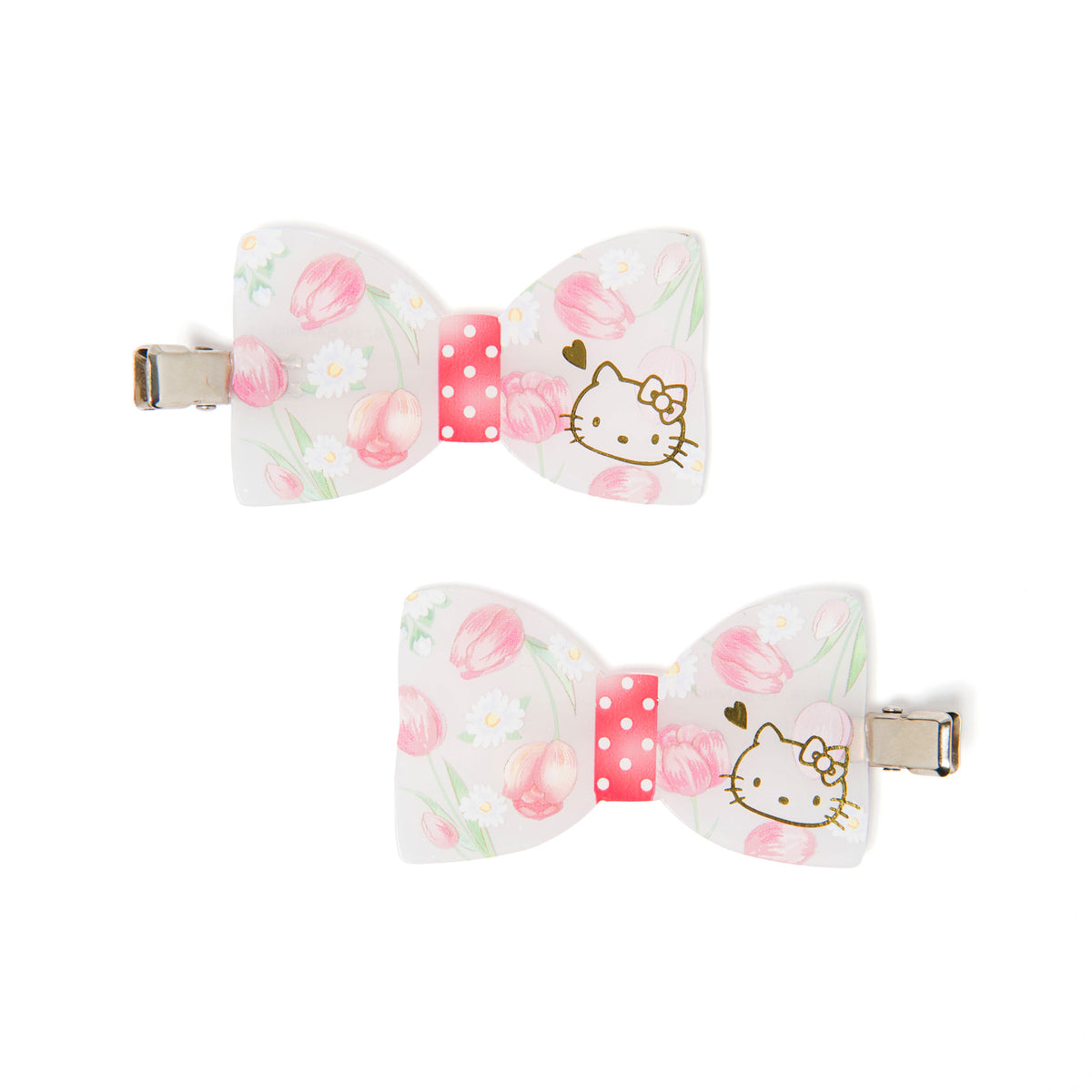 Hello Kitty Bow Hair Clips Set