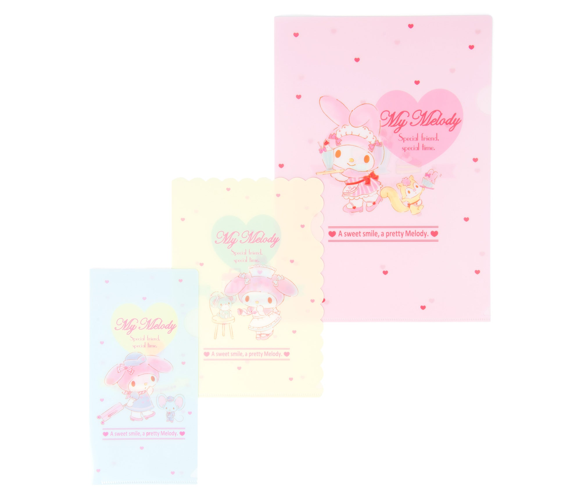 My Melody Cosplay Clear File Set