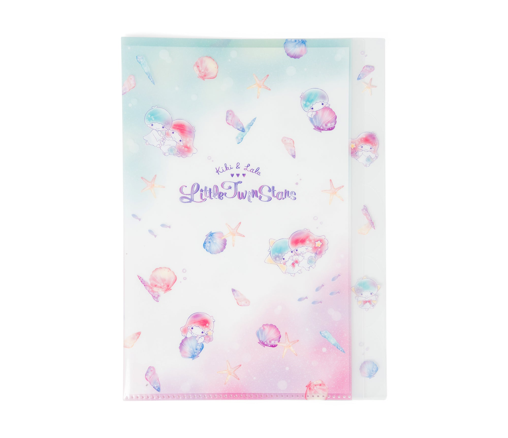 Little Twin Stars Seashells Clear File Folder
