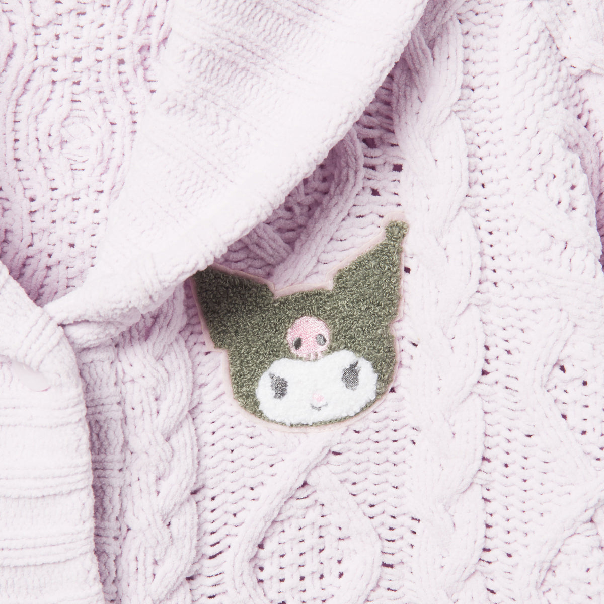 Kuromi Patch Marshmallow Cardigan