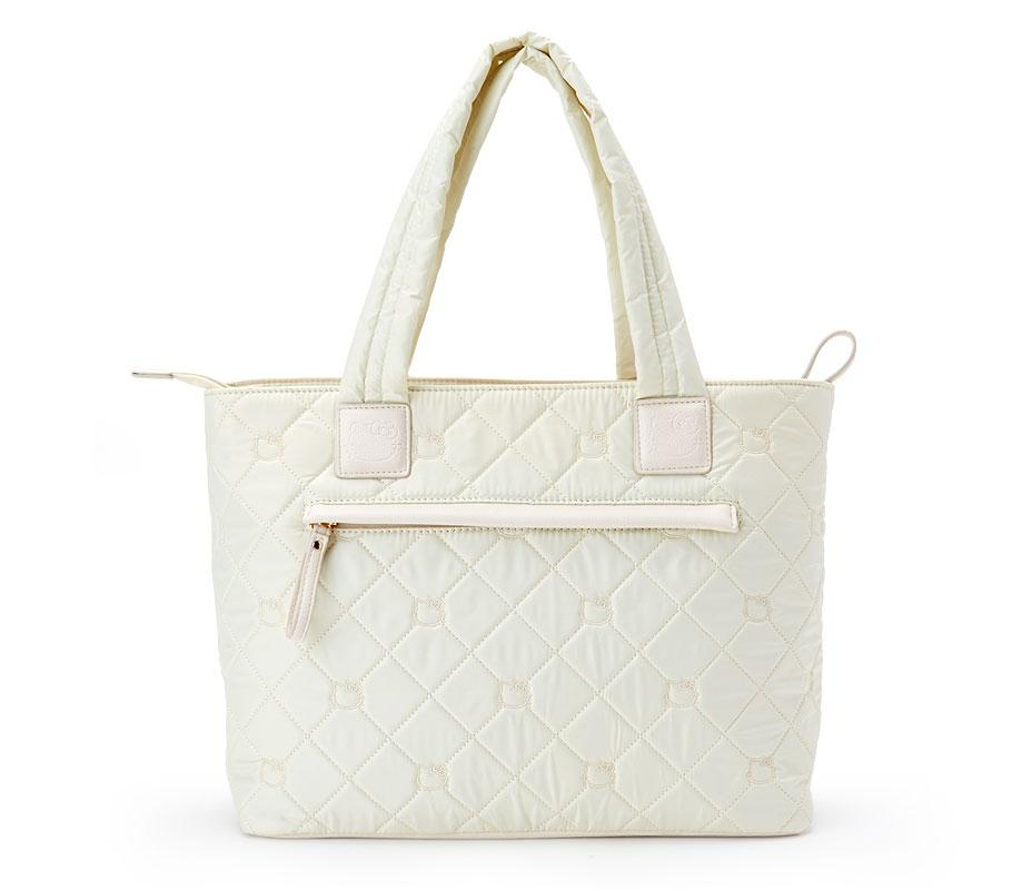 Hello Kitty Precious Quilted Tote Bag Ivory