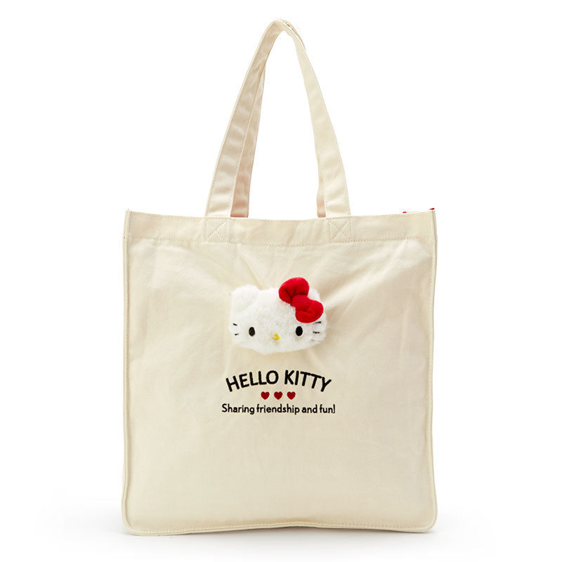 Hello Kitty Plush Mascot Tote Bag
