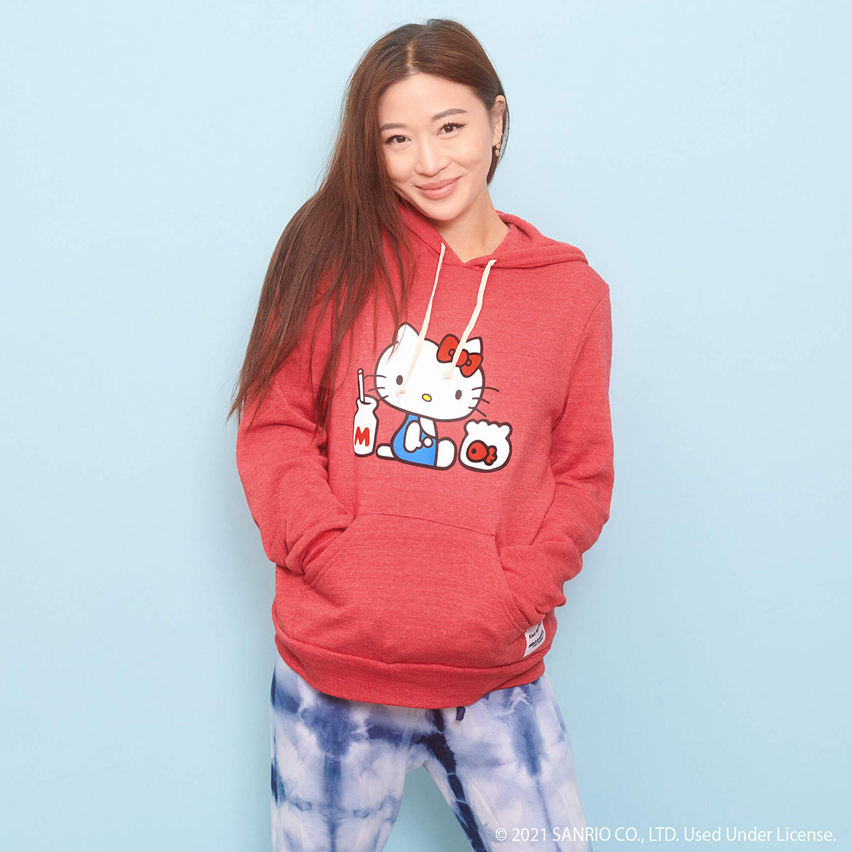 East West Shop x Hello Kitty Pullover Hoodie Red