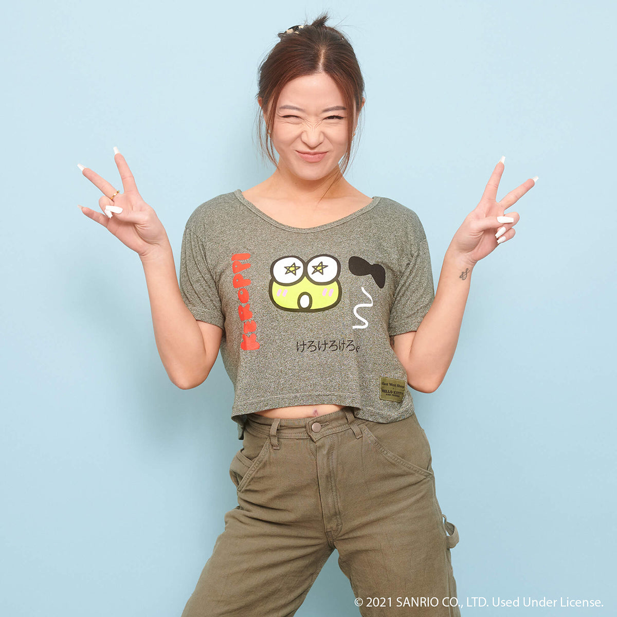 East West Shop x Keroppi Crop Tee