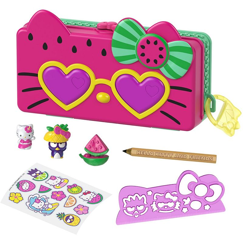 Mattel Hello Kitty & Friends Minis Watermelon Beach Pencil Playset