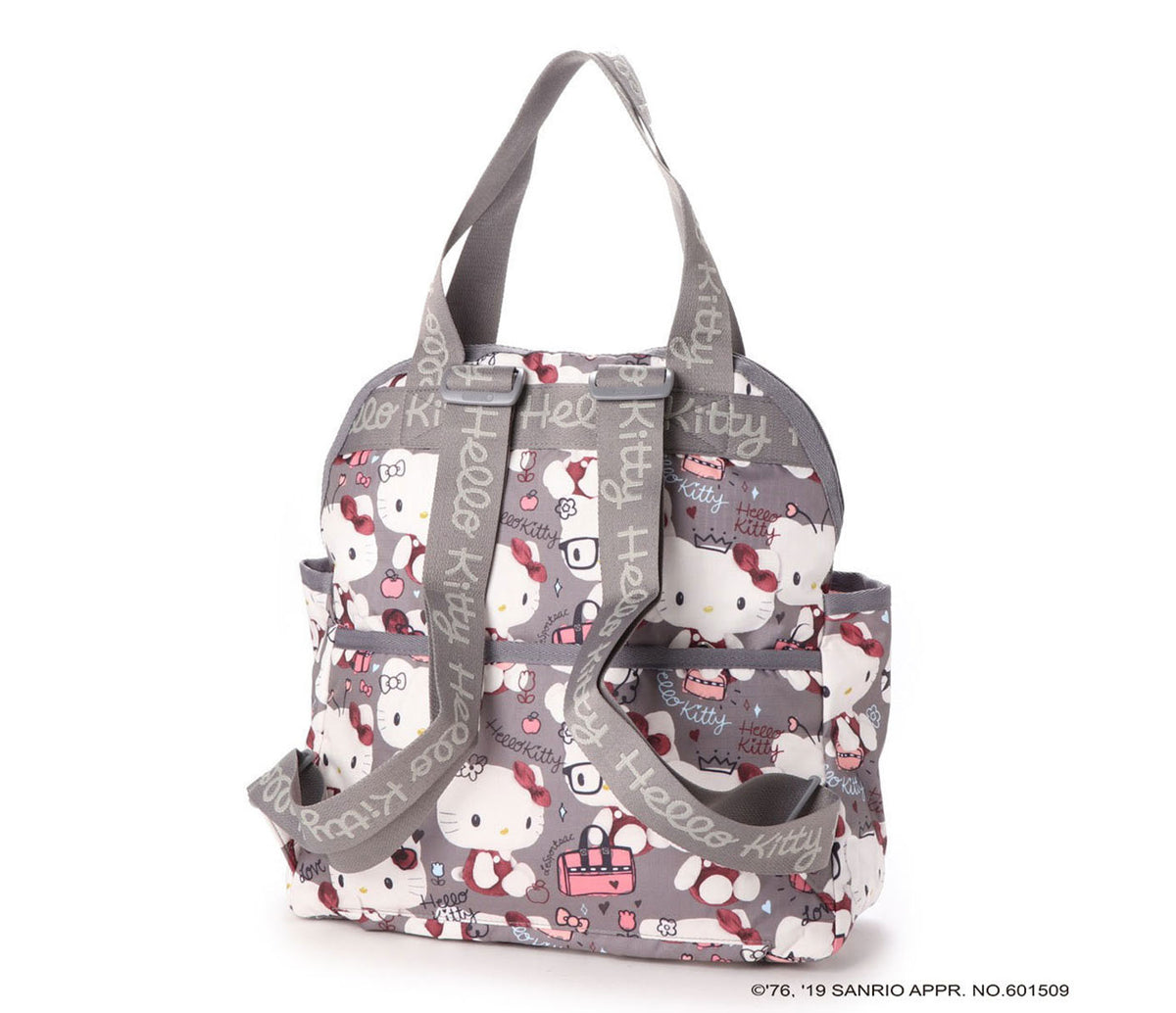 LeSportsac x Hello Kitty Double Trouble Backpack: Gray