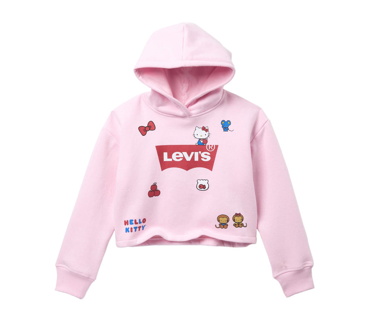 Levi's x Hello Kitty Girls Hoodie: Pink