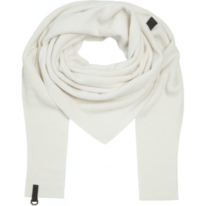 Triangular Fleece Scarf - Off White