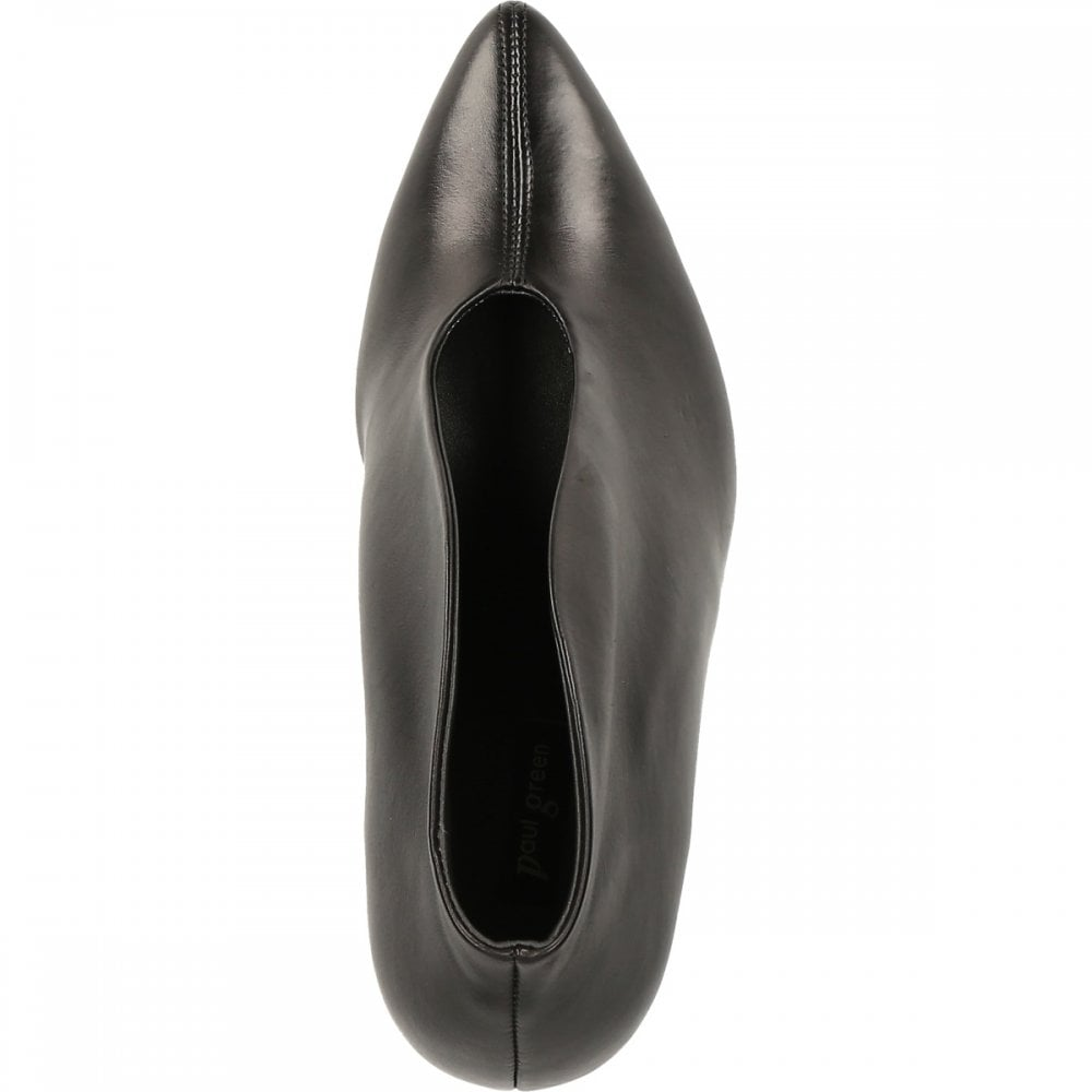 Paul Green Black High Heeled Leather Pump