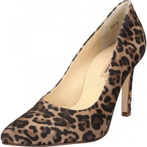 Paul Green Leopard Print Suede Court Shoe