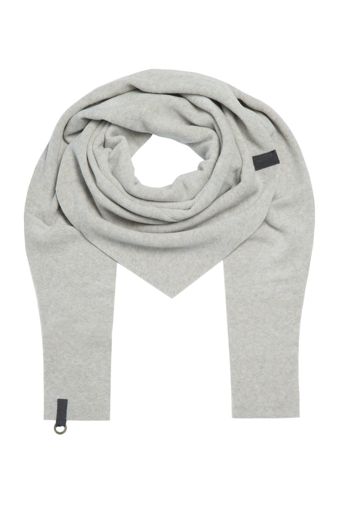 Triangular Fleece Scarf - Sand