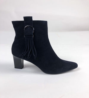 Load image into Gallery viewer, Peter Kaiser Navy Suede Tassel Ankle Boot 90673.238