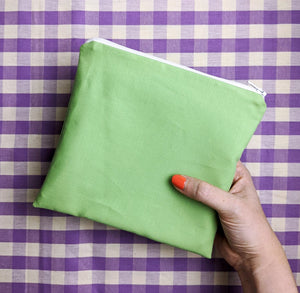 'Apple Green' zip pouch