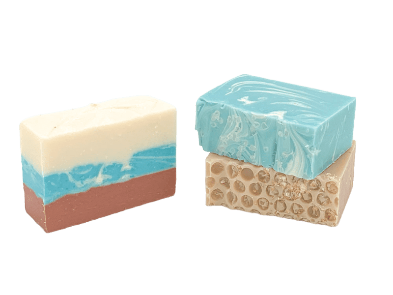 3 bars of our handmade soap. 3 bars of our handmade soap and 1 - 5 oz. bar are mailed to you monthly.
