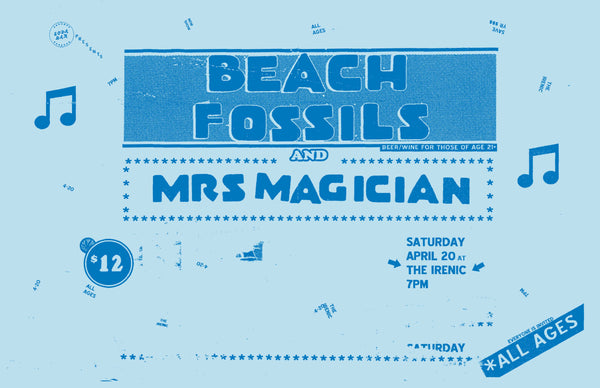 Poster - Beach Fossils @ The Irenic - 04.20.2013