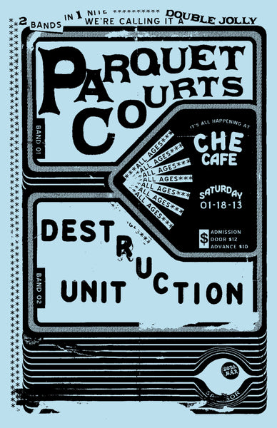 Poster - Parquet Courts @ Che Cafe - 01.18.2014