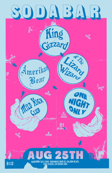 Poster - King Gizzard & The Lizard Wizard @ Soda Bar - 08.25.2015
