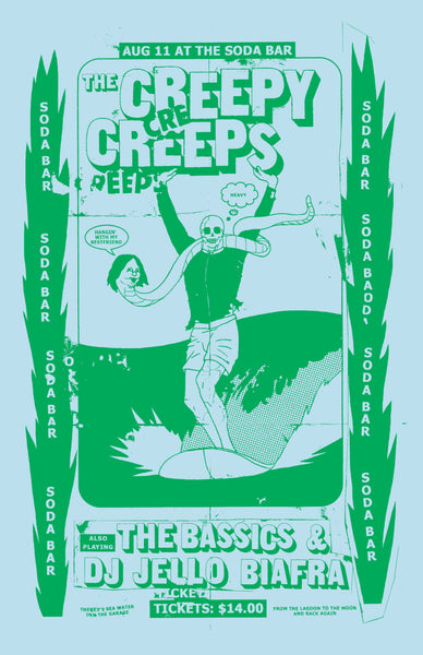 Poster - The Creepy Creeps @ Soda Bar - 08.11.2017