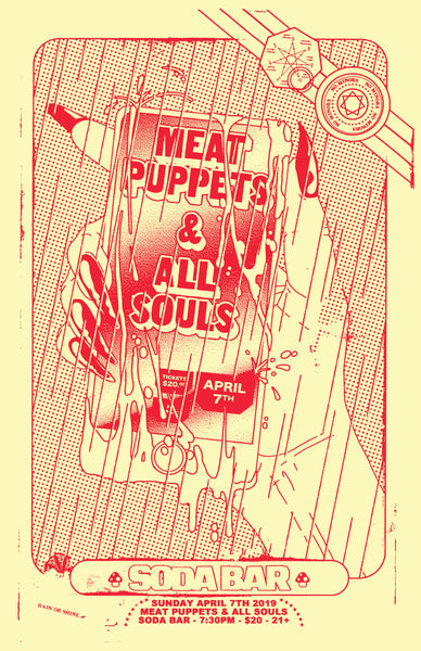 Poster - Meat Puppets @ Soda Bar - 04.07.2019