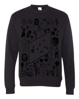 Greatest Hits Sweatshirt - Black on Black