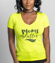 Load image into Gallery viewer, Moms Matter Neon Yellow Summer Tee