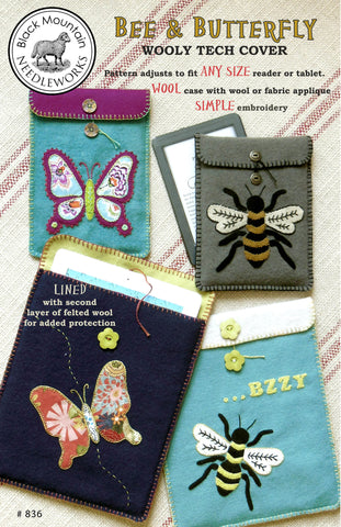Bee & Butterfly--printed pattern