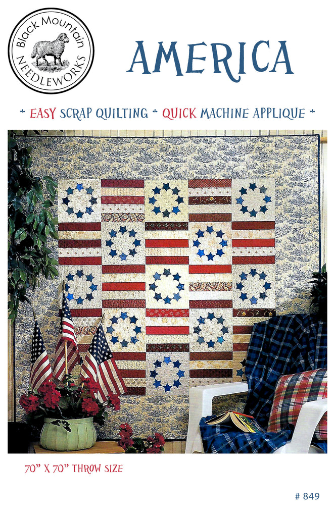 **NEW* America quilt--download PDF pattern
