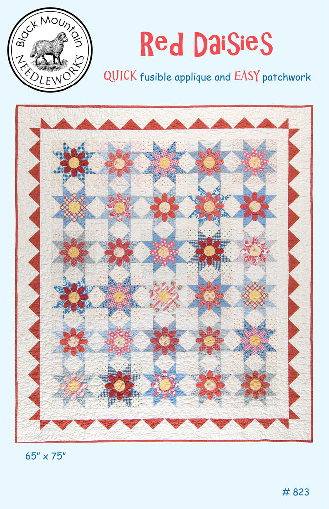 Red Daisies--printed pattern