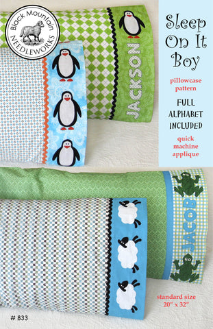 Sleep On It Boy pillowcase--printed pattern