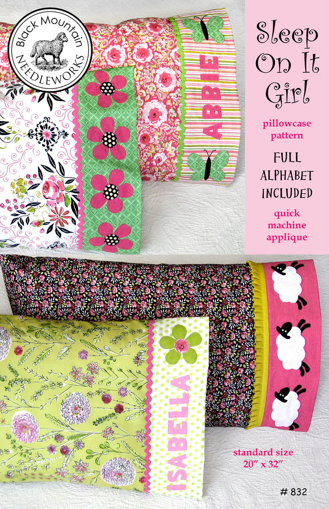 Sleep On It Girl pillowcase--download PDF pattern