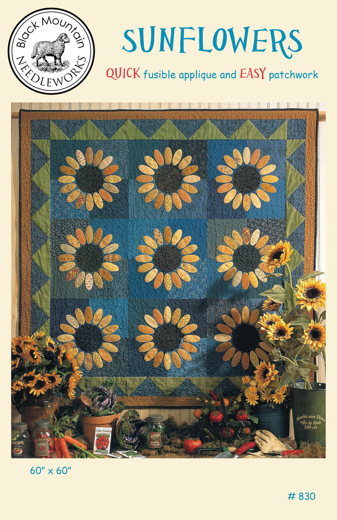 Sunflowers--printed pattern