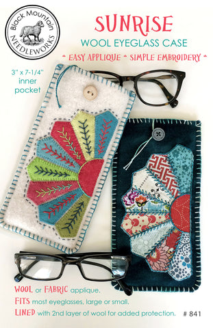 Sunrise Wool Eyeglass Case--printed pattern